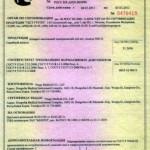 сертификат на накладки суставов