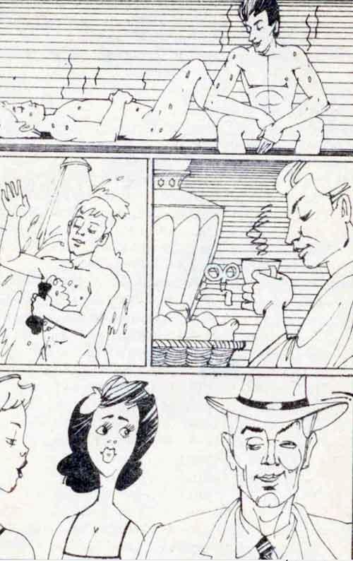 Комикс про похождения в баню