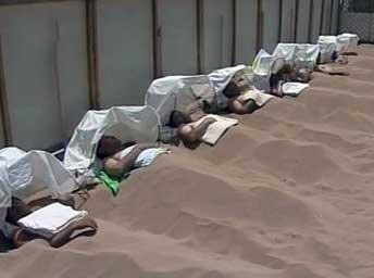 """Псаммотерапия или """"песчаная баня"""""""